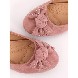 Baleriny na koturnie różowe FM217-13 Pink 4
