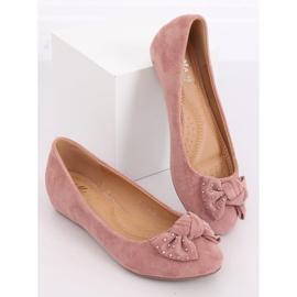 Baleriny na koturnie różowe FM217-13 Pink 2