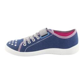 Befado obuwie dziecięce 251Q109 niebieskie 3