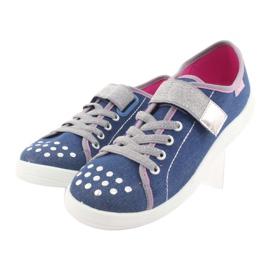 Befado obuwie dziecięce 251Q109 niebieskie 4