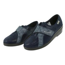 Befado obuwie damskie pu 032D001 niebieskie 4