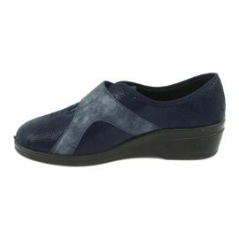 Befado obuwie damskie pu 032D001 niebieskie 3