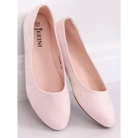 Baleriny gładkie różowe Z1005 Pink 4