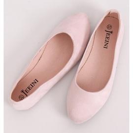 Baleriny gładkie różowe Z1005 Pink 3