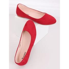 Baleriny gładkie czerwone Z1005 Red 5