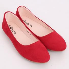 Baleriny gładkie czerwone Z1005 Red 4