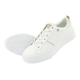Białe sportowe trampki American Club RH09 żółte 5