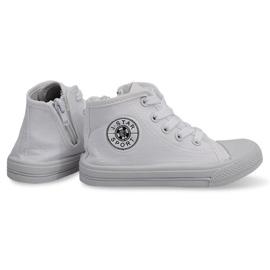 Wysokie Dziecięce Trampki Y1312 Biały białe 1