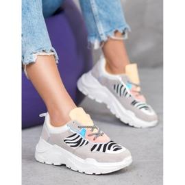 SHELOVET Sneakersy Fashion wielokolorowe 1