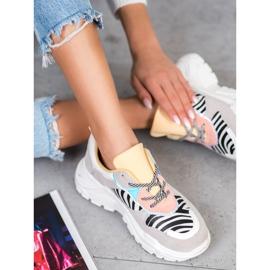 SHELOVET Sneakersy Fashion wielokolorowe 2