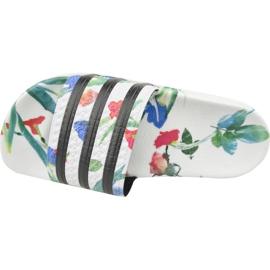 Klapki adidas Adilette W EE4851 białe wielokolorowe 2