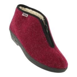 Befado obuwie damskie pu 041D050 czerwone wielokolorowe 2