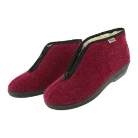 Befado obuwie damskie pu 041D050 czerwone wielokolorowe 4