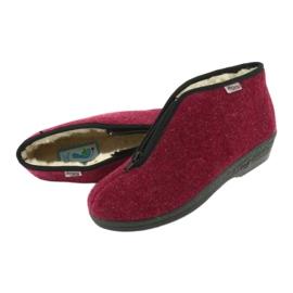 Befado obuwie damskie pu 041D050 czerwone wielokolorowe 6