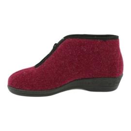 Befado obuwie damskie pu 041D050 czerwone wielokolorowe 3