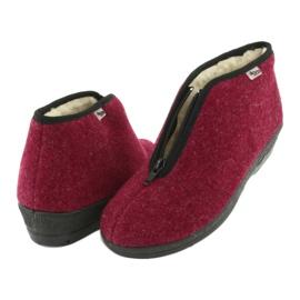 Befado obuwie damskie pu 041D050 czerwone wielokolorowe 5