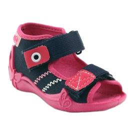 Befado obuwie dziecięce 242P056 granatowe różowe 3