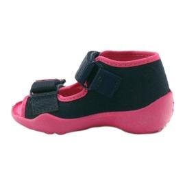 Befado obuwie dziecięce 242P056 granatowe różowe 4