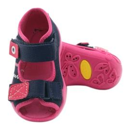 Befado obuwie dziecięce 242P056 granatowe różowe 5