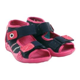 Befado obuwie dziecięce 242P056 granatowe różowe 6