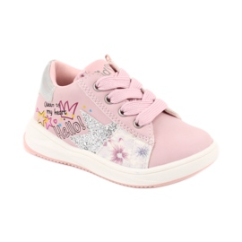 Buty Sportowe dziewczęce gwiazda American Club GC15 różowe szare 1