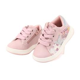 Buty Sportowe dziewczęce gwiazda American Club GC15 różowe szare 3