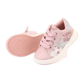 Buty Sportowe dziewczęce gwiazda American Club GC15 różowe szare 5