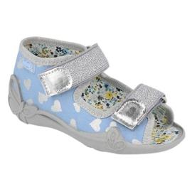Befado obuwie dziecięce 242P101 niebieskie szare 1