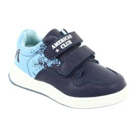 Buty Sportowe na rzepy American Club GC18 granatowe niebieskie 1