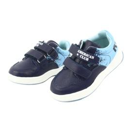 Buty Sportowe na rzepy American Club GC18 granatowe niebieskie 3
