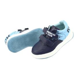 Buty Sportowe na rzepy American Club GC18 granatowe niebieskie 5