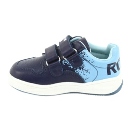 Buty Sportowe na rzepy American Club GC18 granatowe niebieskie 2