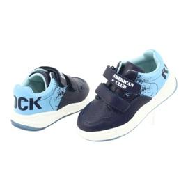 Buty Sportowe na rzepy American Club GC18 granatowe niebieskie 4