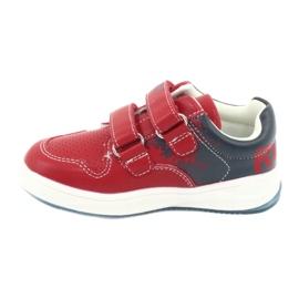 Buty Sportowe na rzepy American Club GC18 czerwone granatowe 2