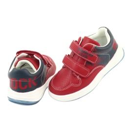 Buty Sportowe na rzepy American Club GC18 czerwone granatowe 4
