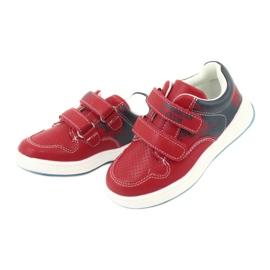 Buty Sportowe na rzepy American Club GC18 czerwone granatowe 3