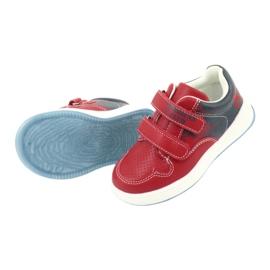 Buty Sportowe na rzepy American Club GC18 czerwone granatowe 5