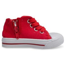 Wysokie Dziecięce Trampki Y1309 Czerwony czerwone 2