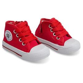 Wysokie Dziecięce Trampki Y1309 Czerwony czerwone 1