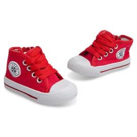 Wysokie Dziecięce Trampki Y1309 Czerwony czerwone 5