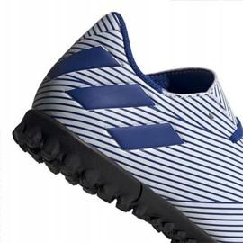 Buty piłkarskie adidas Nemeziz 19.4 Tf Jr FV3313 niebieskie wielokolorowe 2