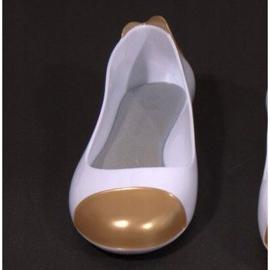 Balerinki Meliski 104 Złoty białe żółte 1