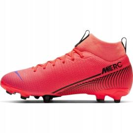 Buty piłkarskie Nike Mercurial Superfly 7 Academy FG/MG Jr AT8120-606 czerwone czerwone 2