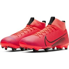 Buty piłkarskie Nike Mercurial Superfly 7 Academy FG/MG Jr AT8120-606 czerwone czerwone 3