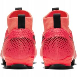 Buty piłkarskie Nike Mercurial Superfly 7 Academy FG/MG Jr AT8120-606 czerwone czerwone 4