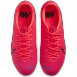 Buty piłkarskie Nike Mercurial Vapor 13 Academy FG/MG Jr AT8123-606 czerwone czerwone 1