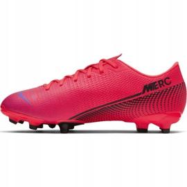 Buty piłkarskie Nike Mercurial Vapor 13 Academy FG/MG Jr AT8123-606 czerwone czerwone 2