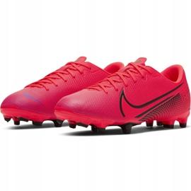 Buty piłkarskie Nike Mercurial Vapor 13 Academy FG/MG Jr AT8123-606 czerwone czerwone 3