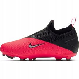 Buty piłkarskie Nike Phantom Vsn 2 Academy Df FG/MG Jr CD4059-606 wielokolorowe czerwone 2