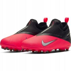 Buty piłkarskie Nike Phantom Vsn 2 Academy Df FG/MG Jr CD4059-606 wielokolorowe czerwone 3